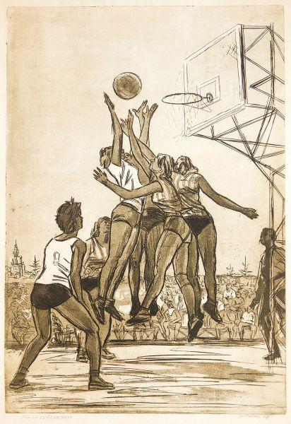 Баскетболистки.