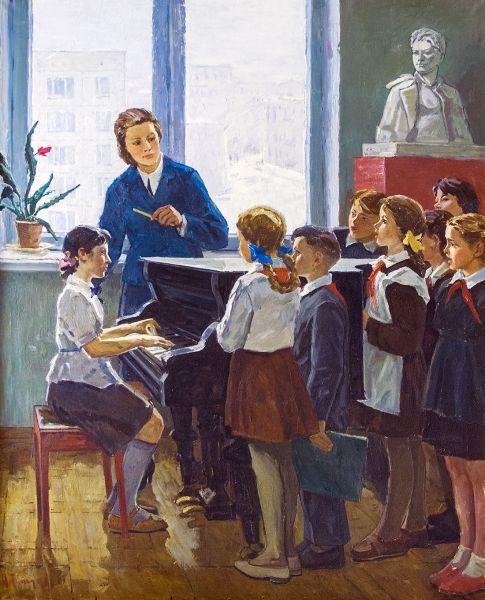 Школьный хоровой кружок.