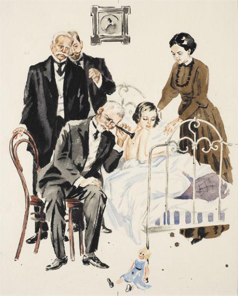 Доктор с трубкой. Иллюстрация к книге А. Куприна