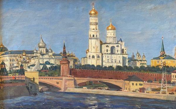 Утро. Московский Кремль.