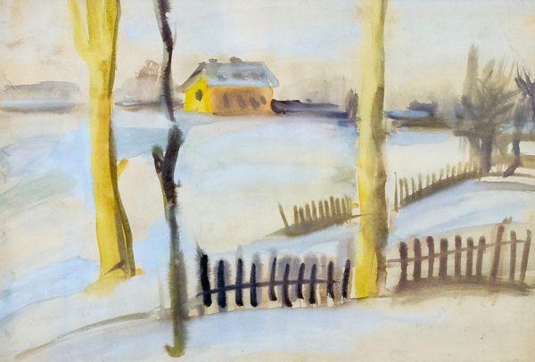 Зимний пейзаж. Псков.
