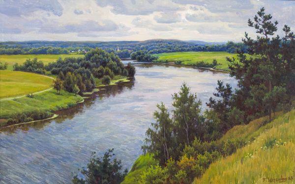 Сосны. Москва-река.