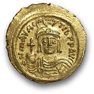 Византия. Маврикий – Тиберий. Солид. Золото. 482-602 н.э. вес 4,5 гр. Состояние XF/XF.