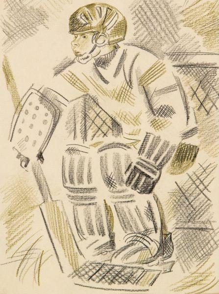 Вратарь. Иллюстрация к детской книге.