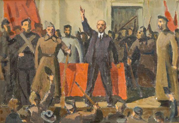Выступление В.И. Ленина на II Съезде Советов.
