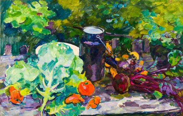 Натюрморт с овощами.