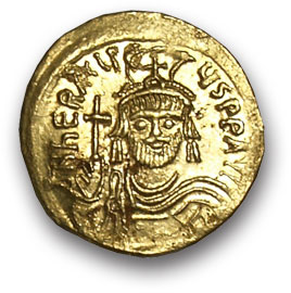 Византия. Ираклий. Солид. Золото. 610-641 н.э. вес 4,3 гр. состояние XF/XF.