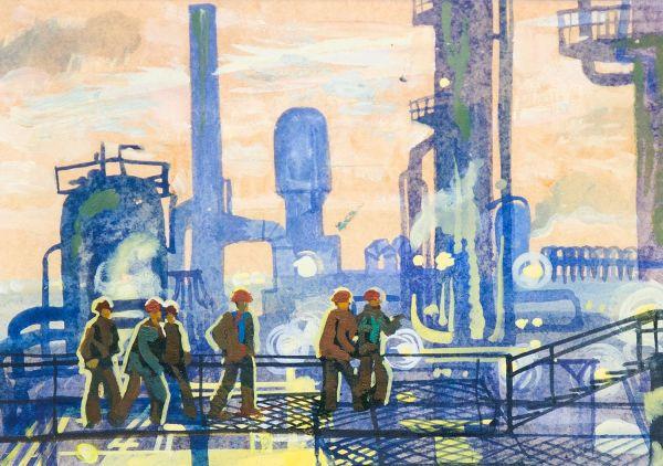 Завод пластмасс - гигант социалистической индустрии. Мангышлак. Казахстан.