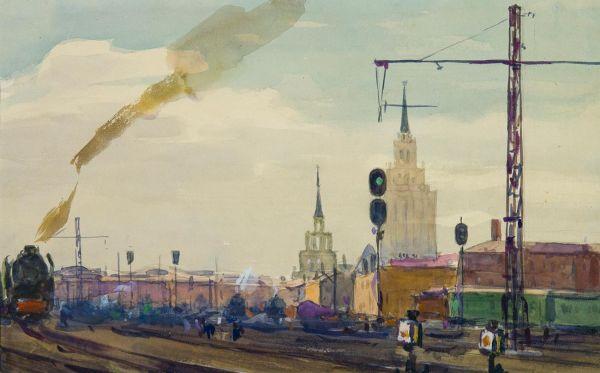 Ленинградский вокзал.