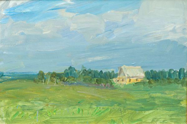 Пейзаж с домом.