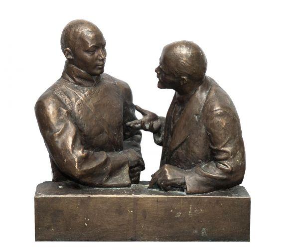 Встреча В.И. Ленина и Сухэ-Батора.
