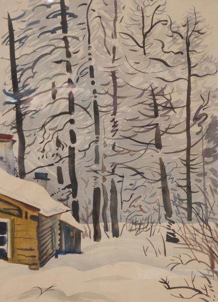 В лесу. Зимний пейзаж.