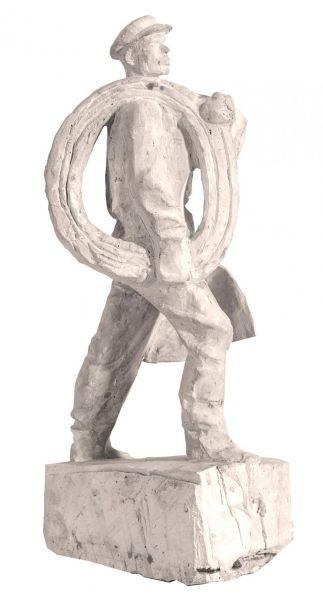 Электромонтер. Скульптурная часть проекта «Мемориал строителям Волховстроя».