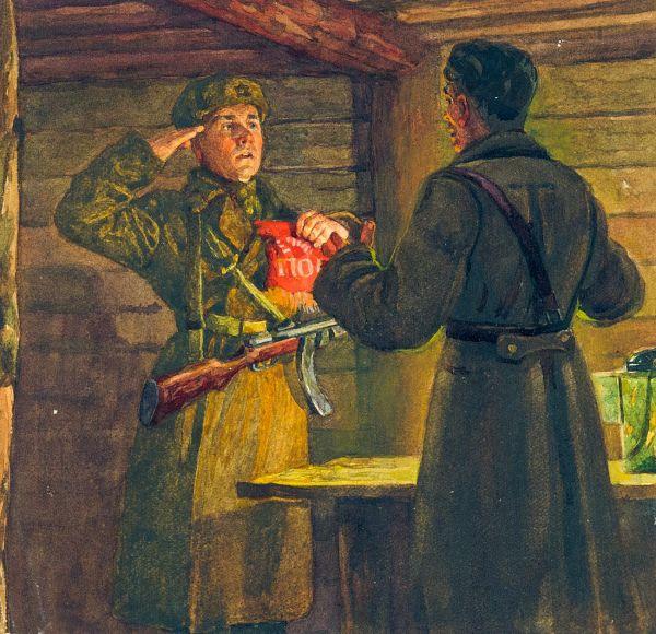 Передача полкового знамени.