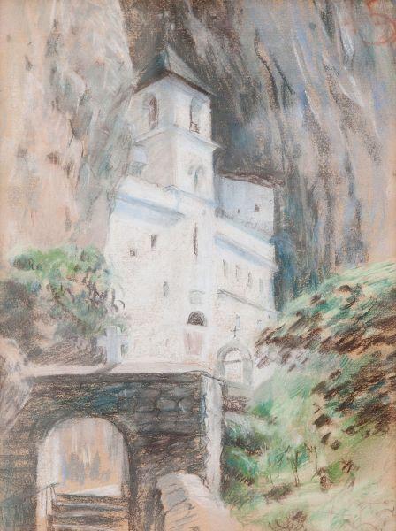 Монастырь в горах.