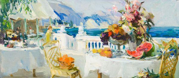 Завтрак на веранде. Крым.