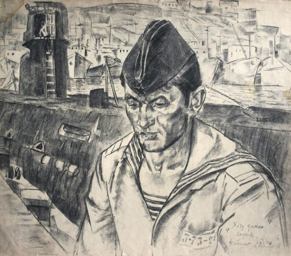 Торпедист-подводник Киприн Валерий. Из серии