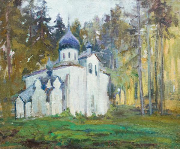 Церковь Спаса Нерукотворного в Абрамцево.