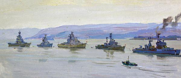 Корабельный смотр в Севастополе.