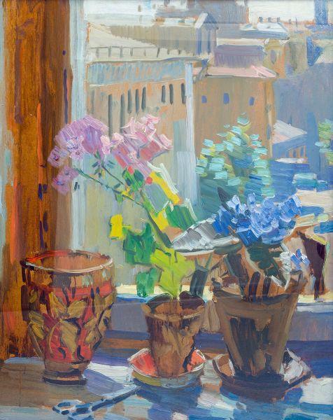 Цветы на окне.