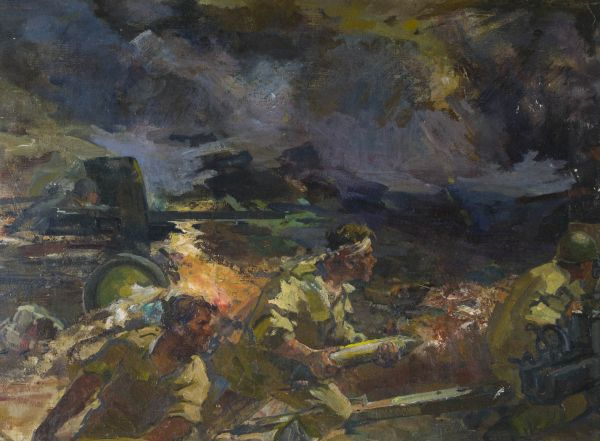 Подвиг 16-ти героей артиллейристов на кургане Барбер в 1941 г.