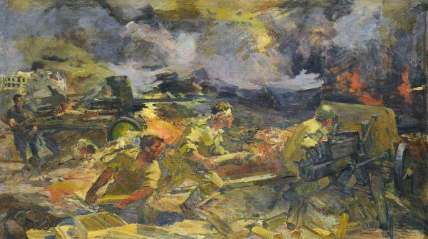 Подвиг героев артиллеристов.
