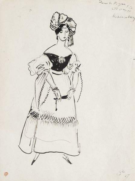 Эскиз костюма к постановке оперы П.И. Чайковского