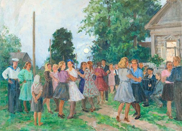 Танцы в деревне.