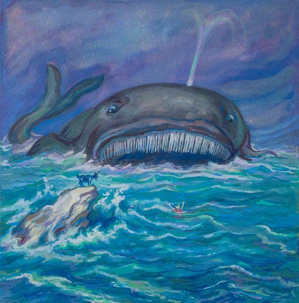 В море. Иллюстрация к книге