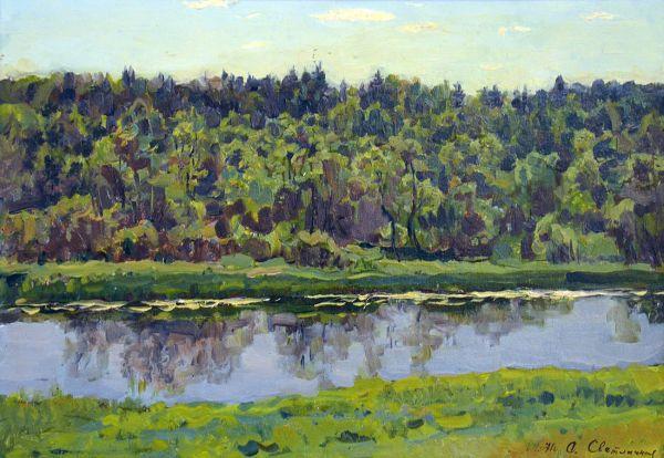 Пейзаж с рекой.