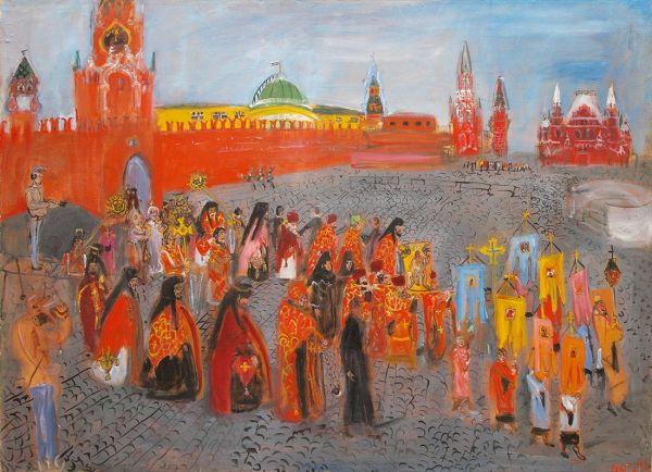 Крестный ход на Красной площади.