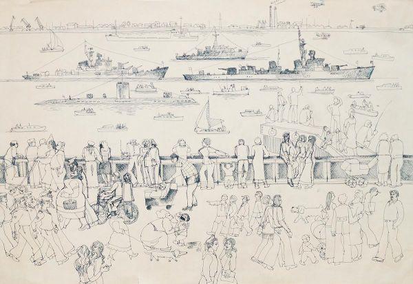 Военно-морской парад. Ленинград.