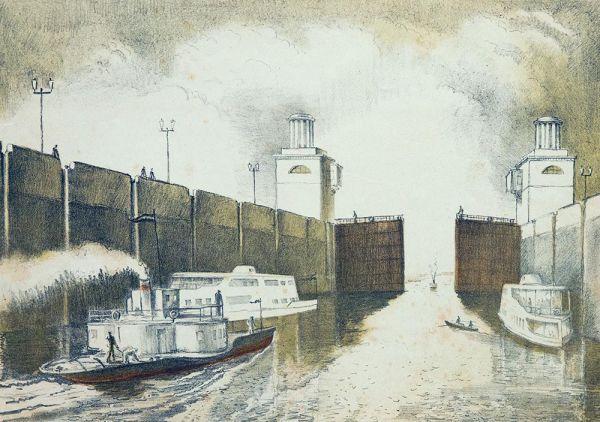 Канал Волга-Москва. Ворота открылись.