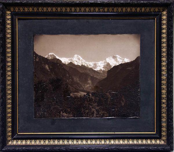 Гора Казбек. В старой аутентичной раме.
