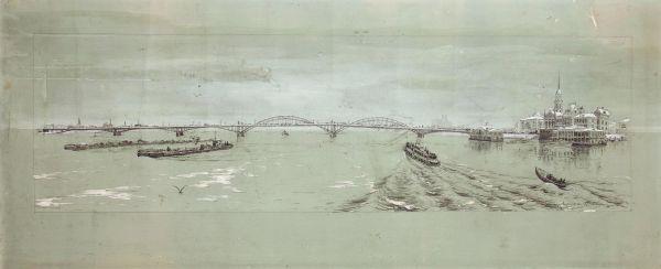 Мост через Волгу. Рыбинск.