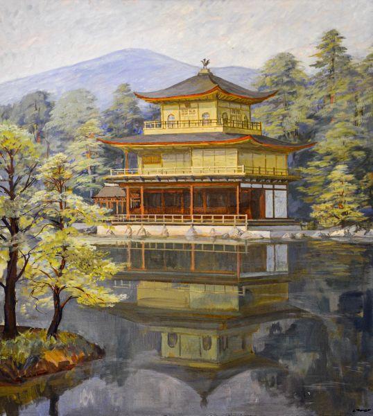 Древний японский храм.