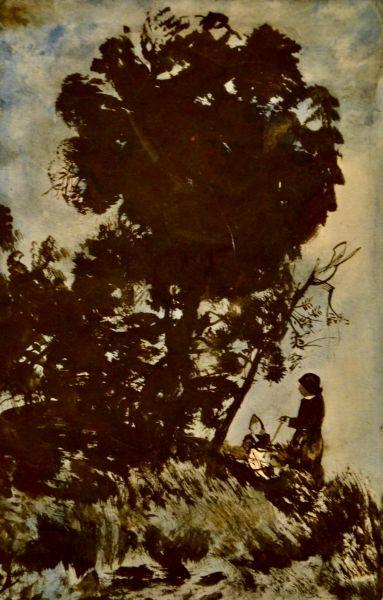 На холме. Под деревом.