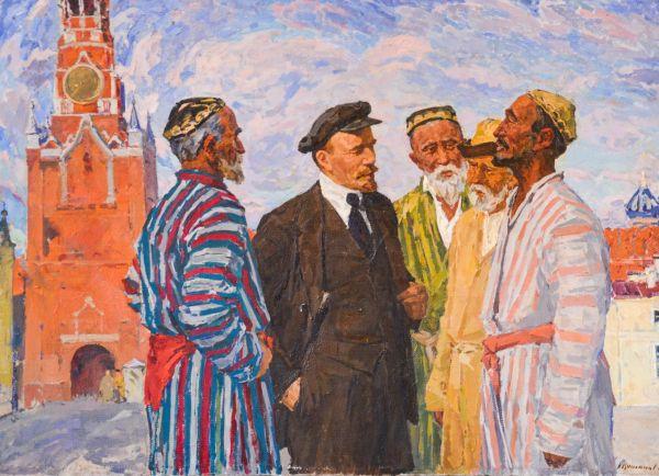 В.И. Ленин на встрече с представителями народов Средней Азии.