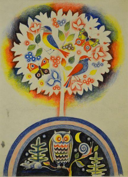 Иллюстрация к книге И.Пивоваровой «Тихое и звонкое».