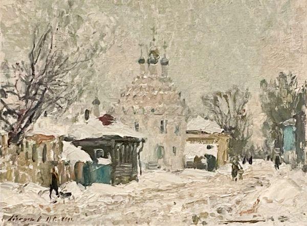 Зима на улице.