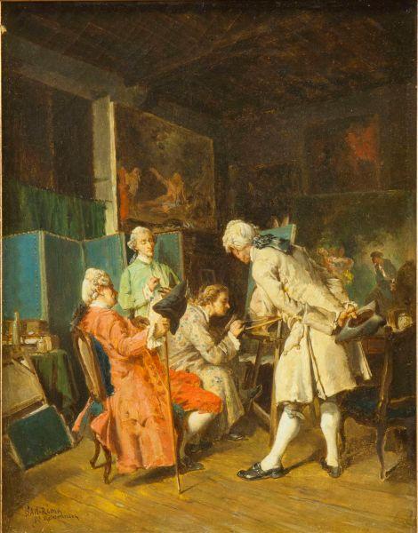 Ценители живописи. Копия с одноименной работы Ж-Л-Э. Мейссонье.