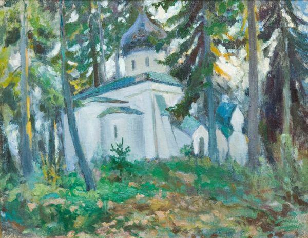 Церковь Спаса Нерукотворного в Абрамцеве.