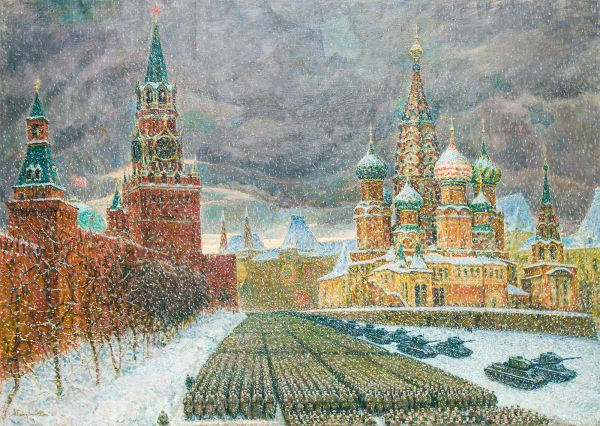 Парад на Красной площади 7 ноября 1941-го года.