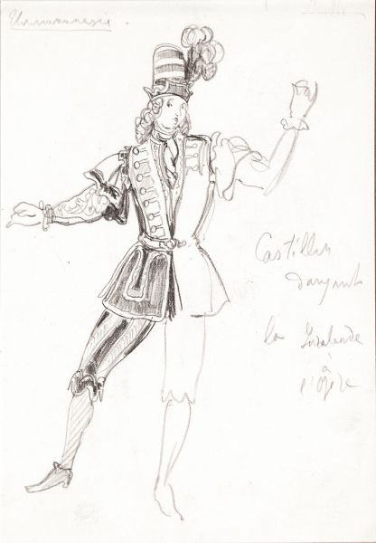 Эскиз костюма к театральной постановке