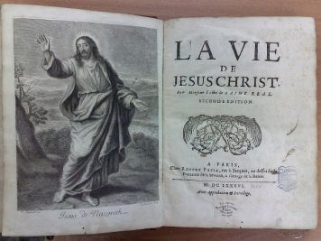 Saint-Real Cesar Vichard Saint-Real Cesar Vichard La Vie de Jesus Christ. Жизнь Иисуса Христа. Seconde edition., 8 н.л., 250 с., 65 с., 1 н.л., 1 гравюра на отдельном листе. Владельческий переплет.