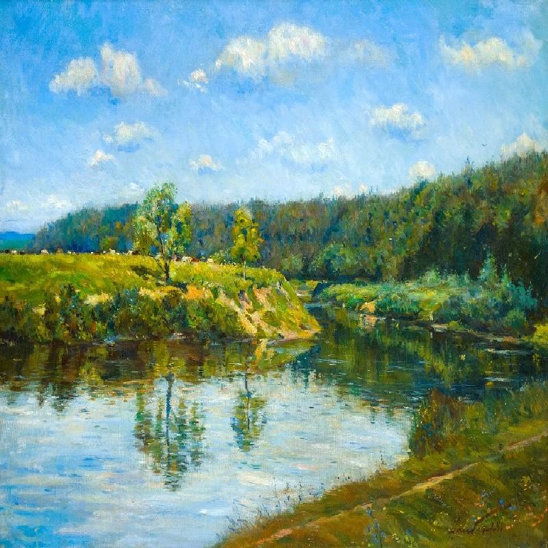 Москва-река у Николиной горы.