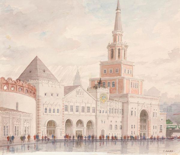 Москва. Вид Казанского вокзала.