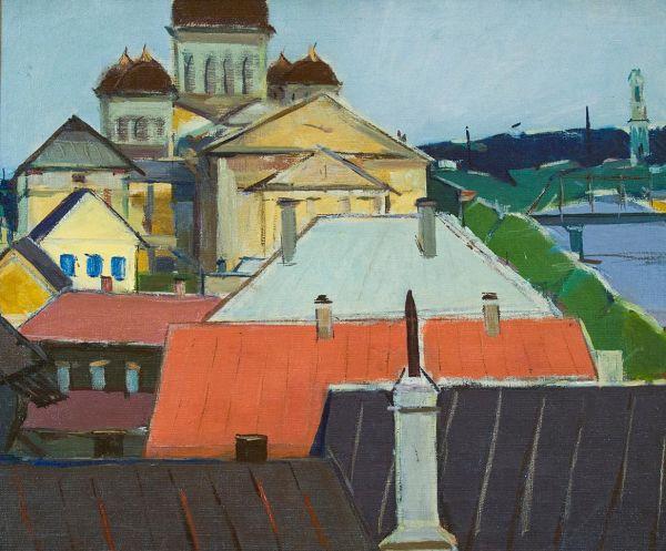 Ленинград. Разноцветные крыши.