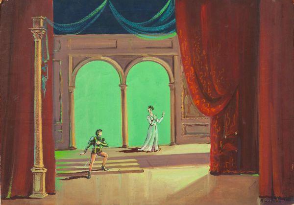 Эскиз декорации к балету «Ромео и Джульетта».