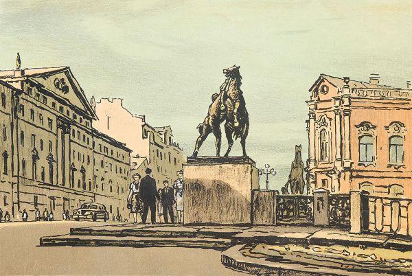 Утро в Ленинграде.